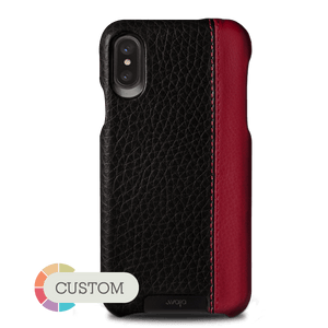 Customizable Grip LP iPhone X Leather Case - Vajacases