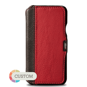 Customizable Agenda MG LP iPhone X / iPhone Xs Leather Case - Vajacases
