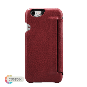 Customizable Agenda Ivo - Slim & Smart iPhone 6/6s Leather Case - Vaja
