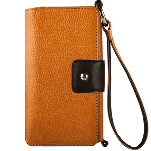 Lola XO - iPhone 7 Plus Wallet leather wristlet case - Vaja