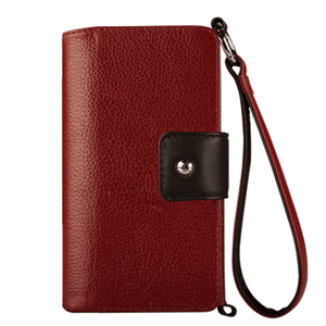 Lola XO - Wristlet Leather wallet case for iPhone 7 - Vaja