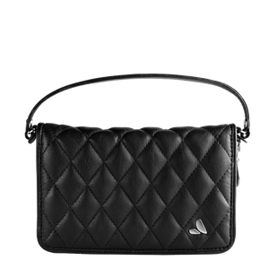 Lucy Clutch Matelassé - Premium Leather Smartphone Clutch - Vaja