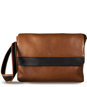 "Messenger Leather Bag for Macbook 13"" - Vaja"