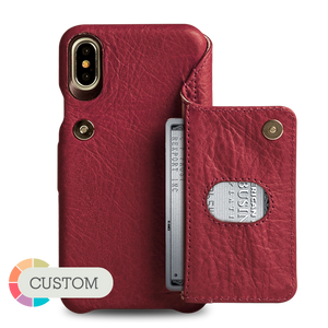 Customizable Niko Wallet iPhone X / iPhone Xs Leather Case - Vajacases