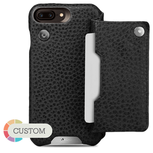 Customizable Niko Wallet iPhone 7 Plus Case Leather - Vajacases