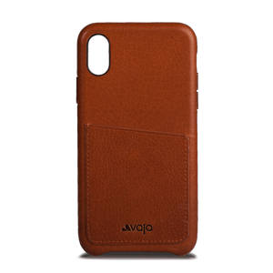 Slim Grip ID iPhone X Leather Case - Vaja
