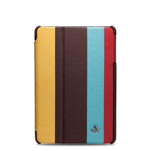 Stripes - Multi-Colored iPad Mini Retina Leather Case - Vaja