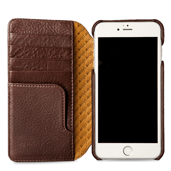 new product 1cacb 33197 Wallet Agenda iPhone 8 Plus Leather Case