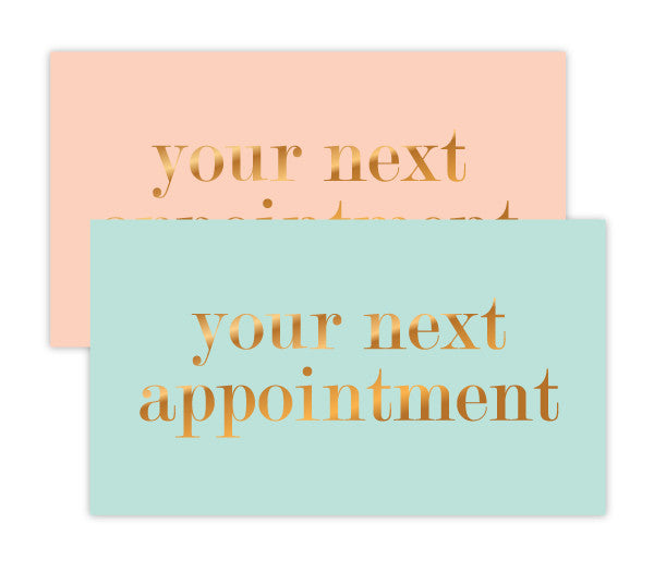 Pastel Appointment Card Set w/ Gold Foil Type