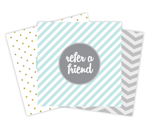 Patterned Referral Card Set