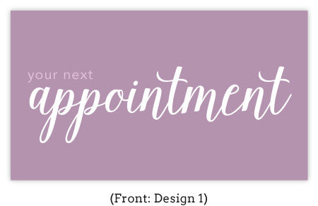 Cursive Appointment Card Set