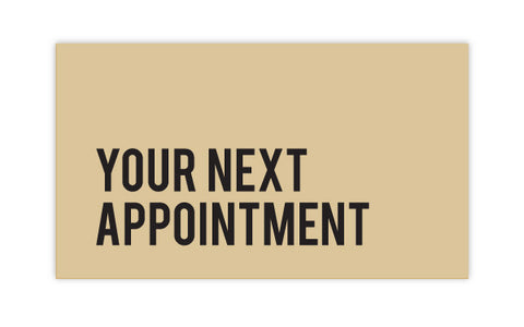 DISCONTINUED >> Glossy Type Appointment Cards