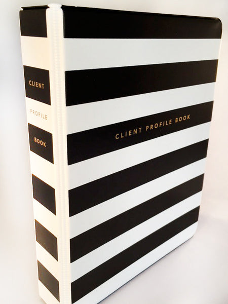 Hairdresser Client Profile Book - spine view