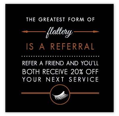 Personalized Lash Referral Cards (Copper Metallic)