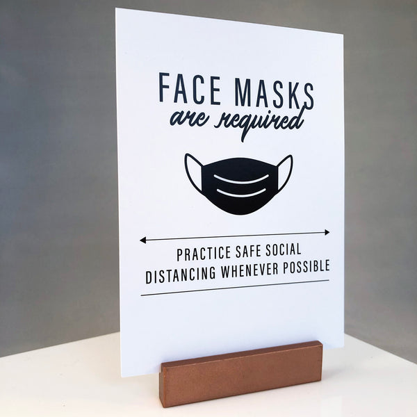 Face masks are required. Practice safe social distancing whenever possible.