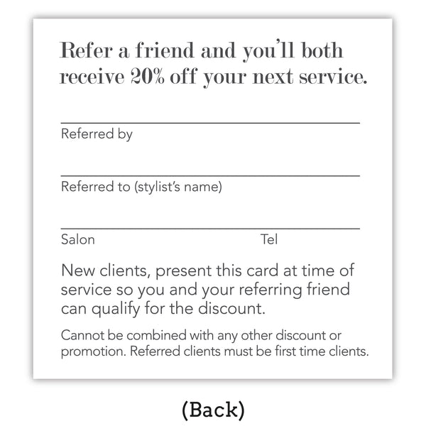 Purple Referral Cards w/ Copper Foil Type