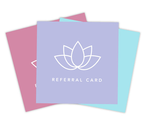 Spa Referral Card Set