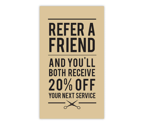 DISCONTINUED >> Glossy Type Referral Cards