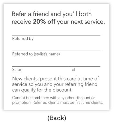 Cursive Referral Card Set