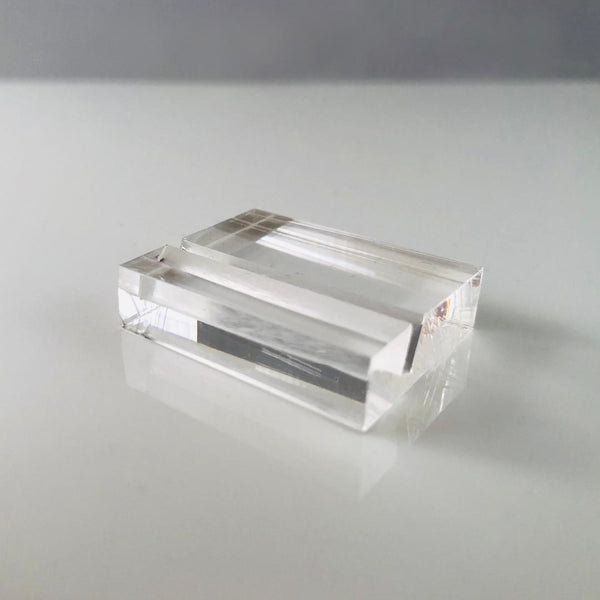 Acrylic card display stand