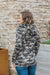Michelle Mae Camo and Stripes Half Zip Hoodie