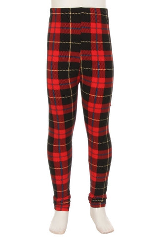 Red Tartan leggings - kids - Belle + Bliss Boutique - 1