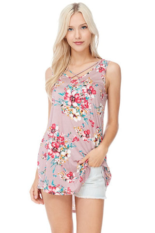Floral Criss Cross Tunic