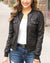 Grace and Lace Leather Look Biker Jacket - Black