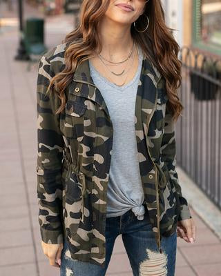 Grace and Lace Camo Cargo Jacket