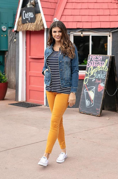 Grace and Lace Colored Jeggings - Mustard