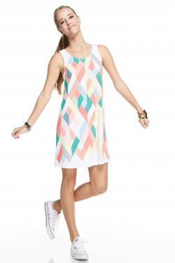 Geometric Sleeveless Dress