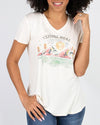 Grace and Lace Perfect V-Neck Graphic Tee - Explore More