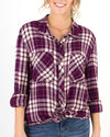 Grace and Lace Favourite Button Up Plaid - Berry Plaid