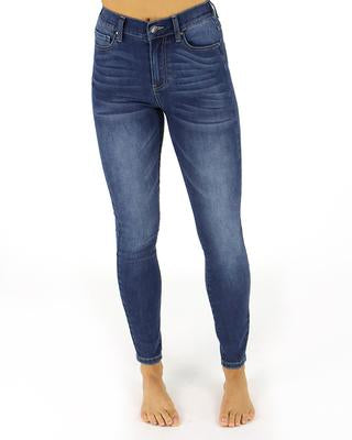 Grace and Lace Favourite Fit Mid Rise Jegging - Mid Wash
