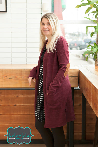 Elbow Patch Cardigan - MORE COLOURS