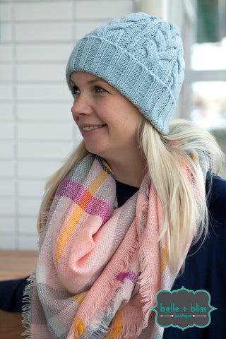 Braided Knit Toque - MORE COLOURS