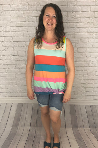 Striped Twist Tank