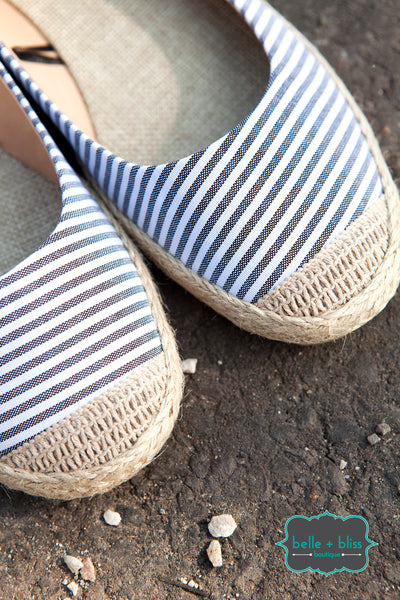 Espadrille Shoe - Striped