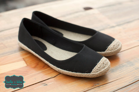 Espadrille Shoes - Black