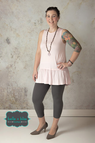 Peplum Sleeveless Tunic