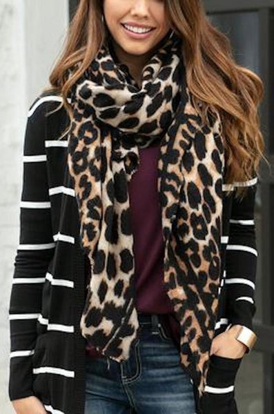 Grace and Lace Leopard Print Scarf