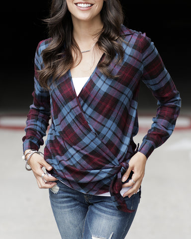 Grace and Lace - Plaid Wrap Top - More Colours
