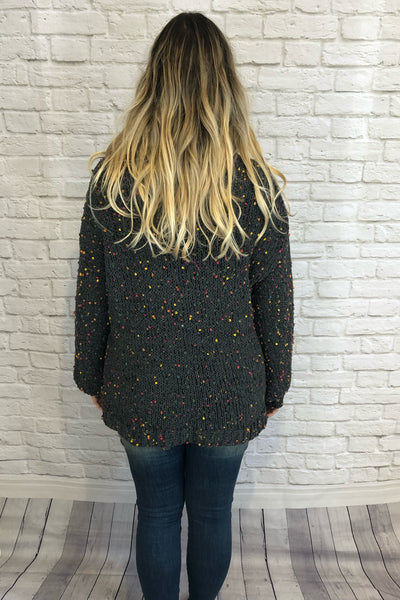 Confetti Sweater - Dark Olive