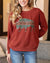 Grace and Lace Graphic Sweatshirt - Southwest Buffalo (Rust)