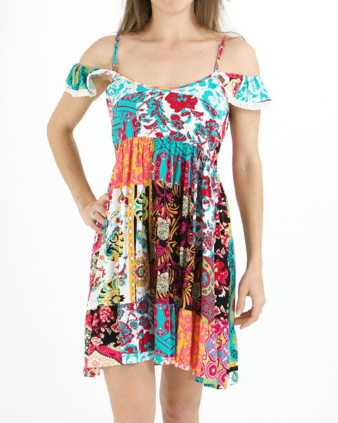 Grace and Lace Summer Fields Dress - Patchwork
