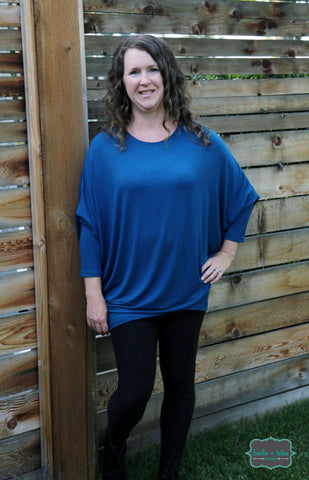 Bamboo Dolman Long Sleeved Tunic - MORE COLOURS