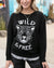 Grace and Lace Graphic Sweatshirt - Wild and Free (Black)