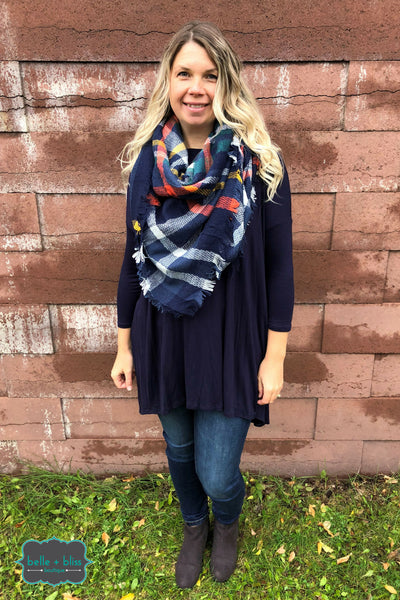 Blanket Scarf - Blueberry Crumble
