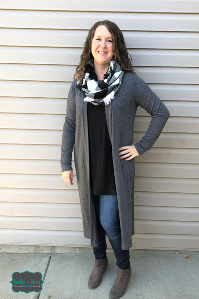 Infinity Scarf - Buffalo Check Black & White