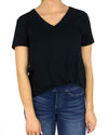 Grace and Lace Perfect V Neck Tee - Black
